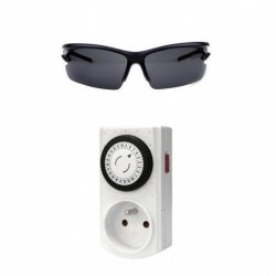 Weekly Programmable Digital Timer + Protective glasses