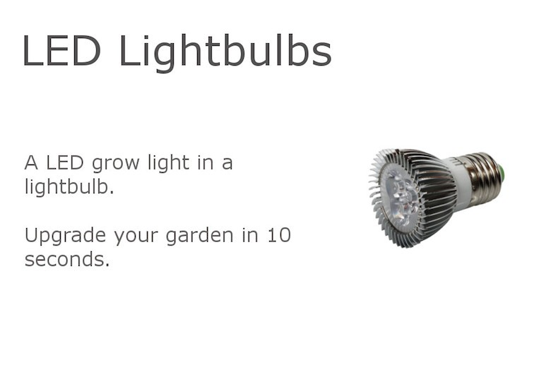 LED Grow light in a lightbulb